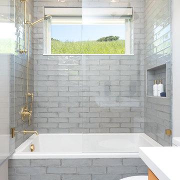 Lucas Ranch - Orange Boys Bathroom