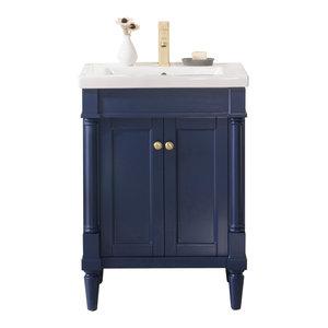 "Legion Furniture Evarly Single-Sink Vanity, Blue, 24"""