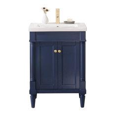 """Evarly Single-Sink Vanity, Blue, 24"""""""