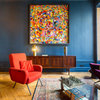 Lyon Houzz Tour: Striking Blue Apartment Packed With Personality