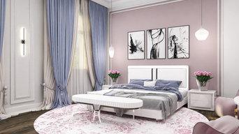 Дизайн-проект спальни для девушки в нежнейших пастельных тонах