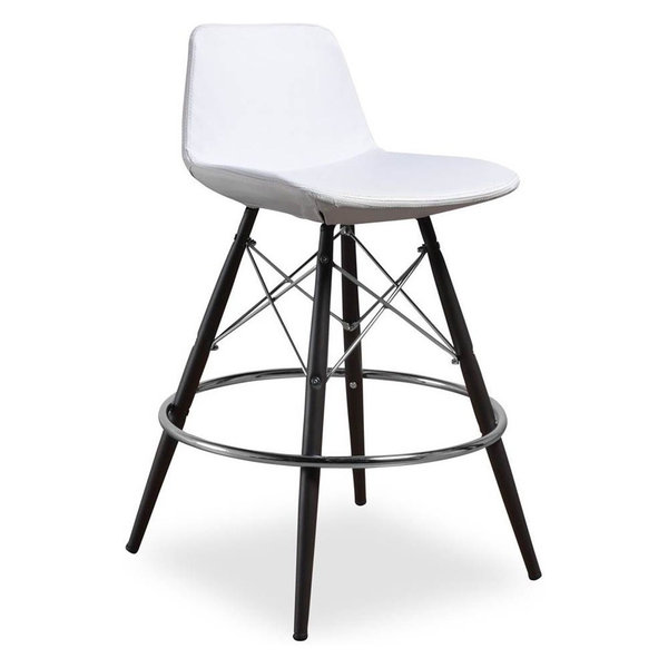 Barstool, White, Set of 2