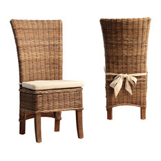 Marco Polo Imports   Alisi Dining Chair   Dining Chairs  Rattan Dining Room Chairs
