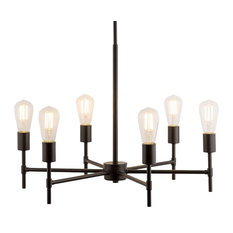 Bella Chandelier with Bulb, Bronze