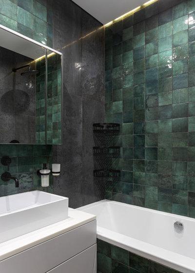 Скандинавский Ванная комната by Brick buro