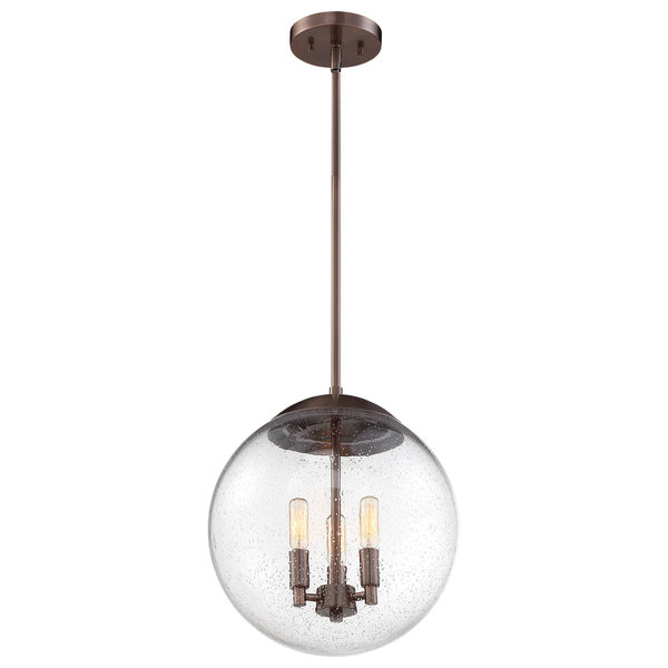 Nuvo Ariel Antique Copper Clear Seeded Pendants