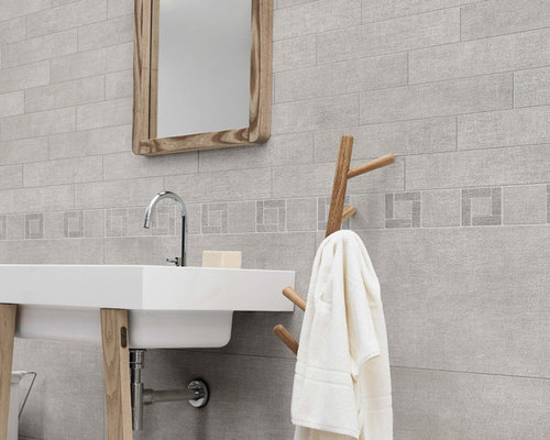 Fly Zone Fiber Porcelain Tile Series - Grigio Mix - Wall And Floor Tile