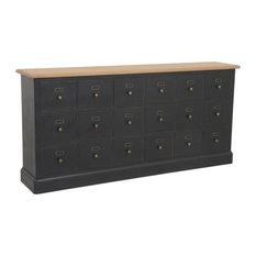 Manoir 18-Drawer Sideboard, Antique Black
