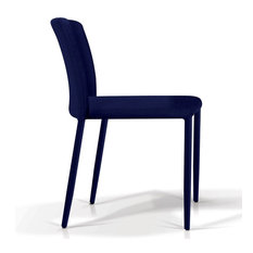 Fabric Stacking Dining Chair, Blue