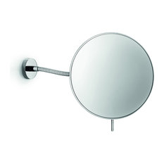 LB Wall Mounted Cosmetic Makeup Magnifying Mirror, Brass, Polished Chrome