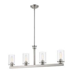 Z-LITE 462-4L-BN 4 Light Island/Billiard Light Fixture, Brushed Nickel