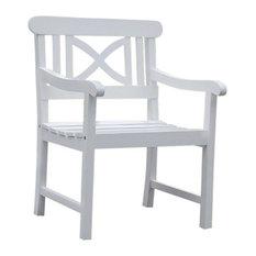 Bradley Outdoor Wood Armchair