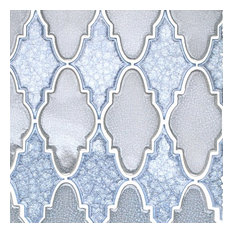 Roman Selection Random Sized Glass Mosaic Tile, Blue