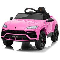 12V 7AH Kids Car Licensed Lamborghini Electric Vehicle High/Low Speed, Pink
