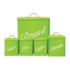Chef Vida 5-Piece Canister Set, Green