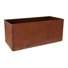 "Nice Corten Steel Trough, Corten, 16""x46"""