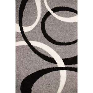 Dresden Rug, Silver and Grey, 200x290 cm