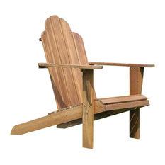 Linon Teak Adirondack Chair, Teak Finish