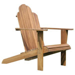 Linon Home - Linon Teak Adirondack Chair, Teak Finish - The classic styled Adirondack Chair is the perfect complement to your outdoor area or pool side. The side armrests and high back provide comfort. Sturdy and durable, the teak finish allows the piece to easily complement your outdoor space.