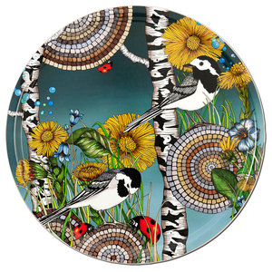 Wagtails Moody Blue Tray, 46 cm