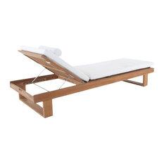 Horizon Chaise Lounger With Cushion, Cushion: Burgundy