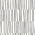 Tempaper - Bobby Berk Shift White and Black Peel and Stick Wallpaper - Sketchy lines create a subtle, modern stripe. Full of energy, it will shift your space into high gear! Tempaper offers individuals the freedom to be creative with decorating, to embrace pattern, texture, and color, and to create bold and expressive interiors, without the worry of a long-term commitment. To apply, peel away the backing to expose the water-based adhesive. Press onto a smooth surface and align the pattern from panel to panel. Tempaper removable wallpaper is Type A fire-rated for flame spread and smoke developed. Product works best when applied to surfaces that have been primed and painted with a satin or semi-gloss finish. Applications on flat and matte paints and textured surfaces are not recommended.