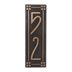 Atlas Signs And Plaques Vertical American Craftsman Home Numbers 6 X24 Bronze