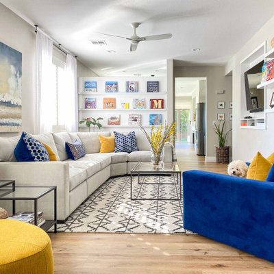 Inspiration for a transitional living room remodel in Las Vegas