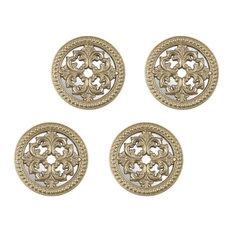 Triunfo Baroque Wall Medallions with Symmetrical  Fleur-De-Lis - Wall Decor