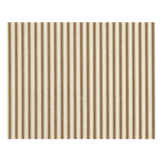 "84"" Shower Curtain, Lined, Ticking Stripe Suede Brown"