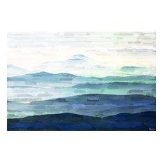 """Mountain Tops"" Canvas Print by Parvez Taj, 115x75 cm"