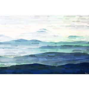 """Mountain Tops"" Canvas Print by Parvez Taj, 40x25 cm"
