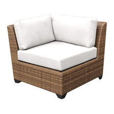 TKC Laguna Corner Patio Chair in White (Set of 2)