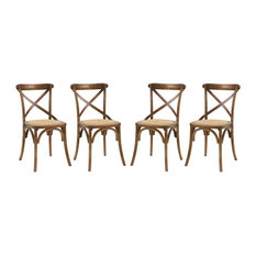 Dining Side Chair in Walnut - Set of 4