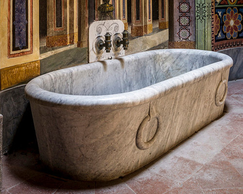 Bathtubs Carved in Stone and Marble (Mediterranean Style)