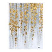 """Golden Fall"" Hand Painted Oil Canvas Art"