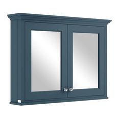 1050 mm Mirror Wall Cabinet, Stiffkey Blue