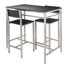 3-Pc High Table Set in Black