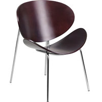 Flash Office Furniture Mahogany Bentwood Leisure Reception Chair