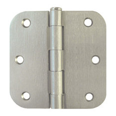 "Satin Nickel Door Hinge 3.5"" With 5/8"" Radius"