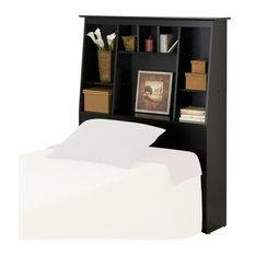 Prepac Furniture - Prepac Slant-Back Tall Twin Bookcase Headboard in Black  Finish - Kids