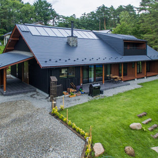 他の地域の和モダンなおしゃれな家の外観の写真