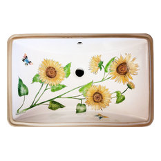 Hand Painted Sunflower Under-Counter Sink, Limited Edition