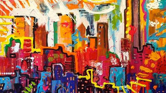 """Archival Print of NYC Stretched, 24""""x24"""""""