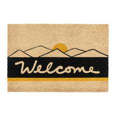"Rocky Mountain Hi, Coir Fiber Doormat , 24""x36"" by Kosas Home"