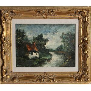 Marcel Bouyeron, Bord L'Yerre De Seine, Oil Painting