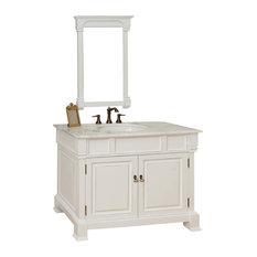 Bellaterra Home   42 Inch Single Sink Vanity Wood White   Bathroom Vanities  And