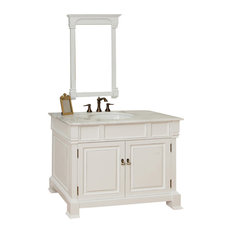 Bellaterra Home - 42 Inch Single Sink Vanity-Wood-White - Bathroom Vanities and
