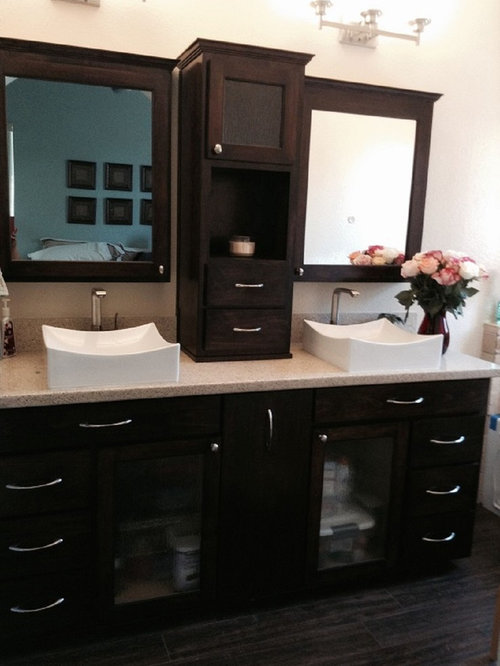 Maple double sink vanity , hutch and medicine cabinets - Products