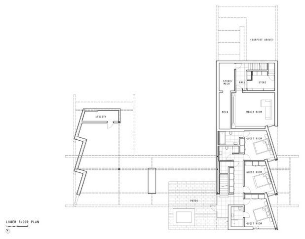 Spectacular Modern Floor Plan by RUFproject